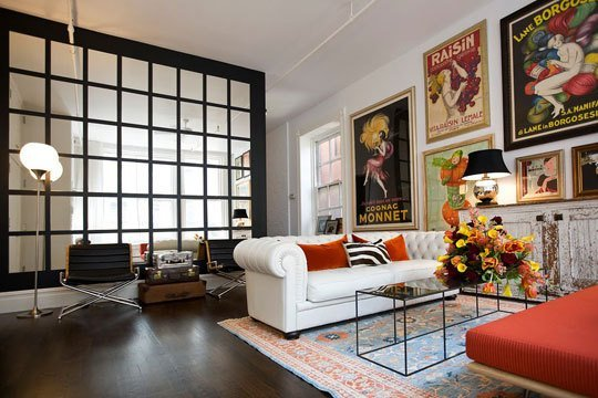 decorating with large mirrors