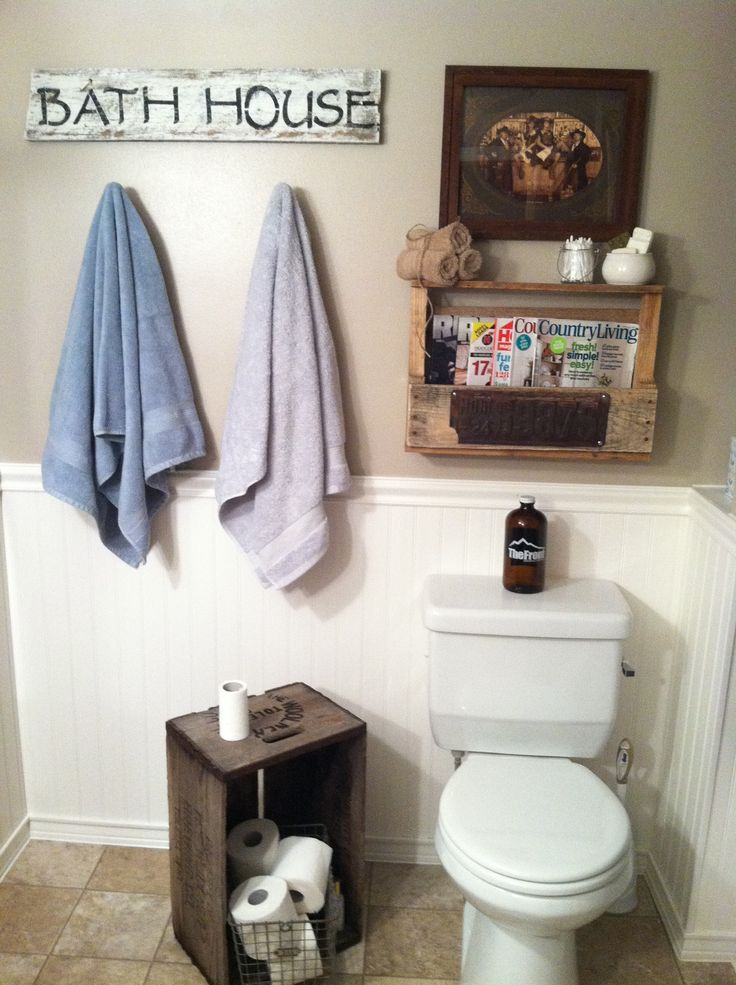 DIY bathroom decorating
