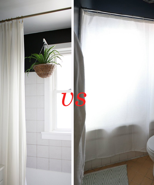 shower curtains opened vs closed