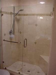 In-line Shower With Towel Bar